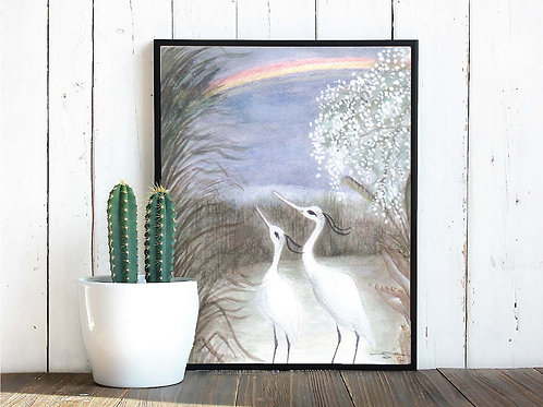 "Herons Print 11"" x 14"""