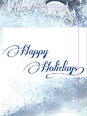 Happy Holidays Notecard w/ Original art by Truddi