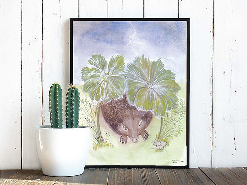 "Hedgehog Print 11"" x 14"""
