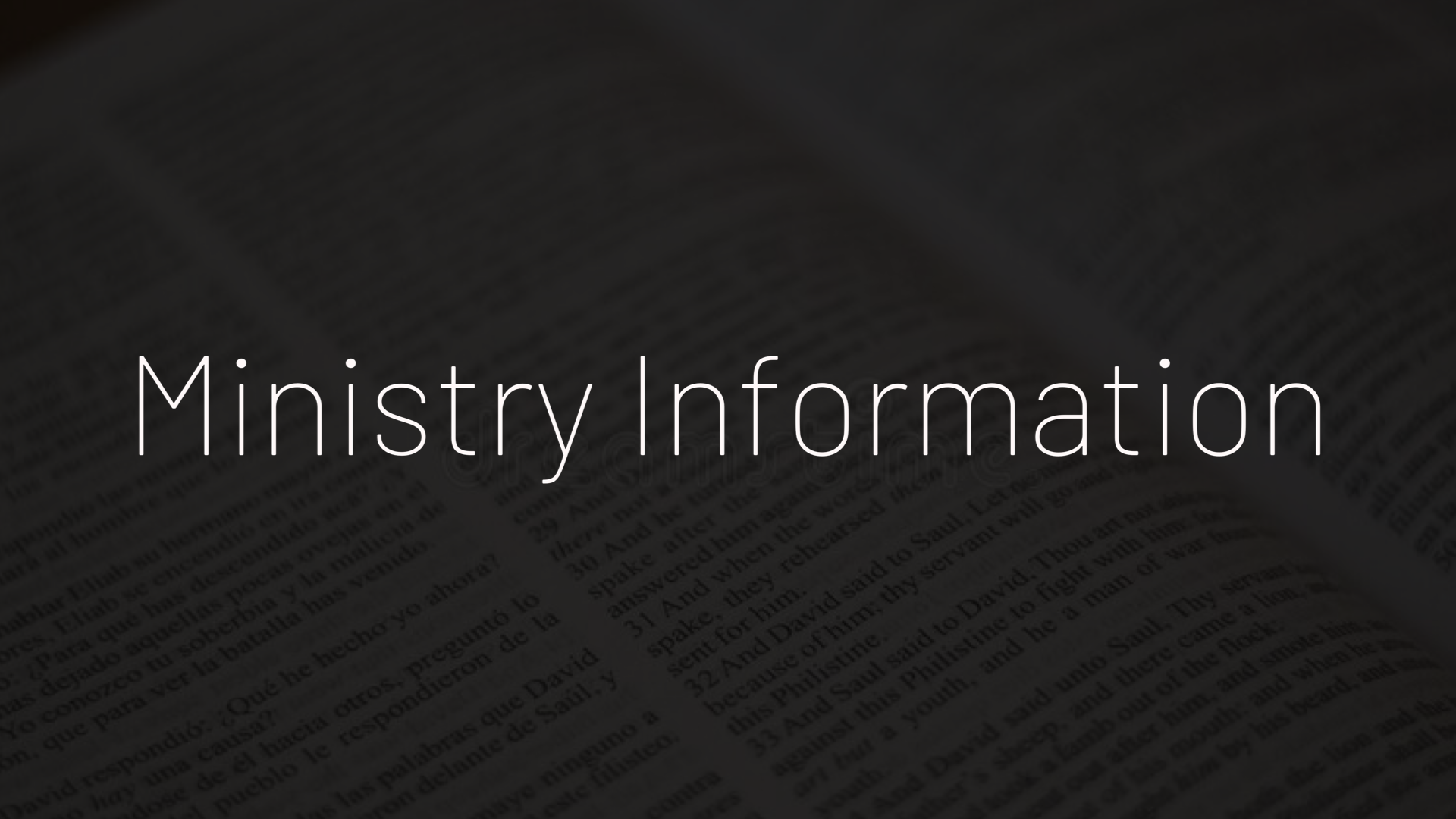 Ministry Information 4