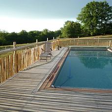 clôtures ganivelle piscine