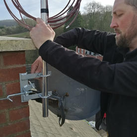 Chimney bracket install