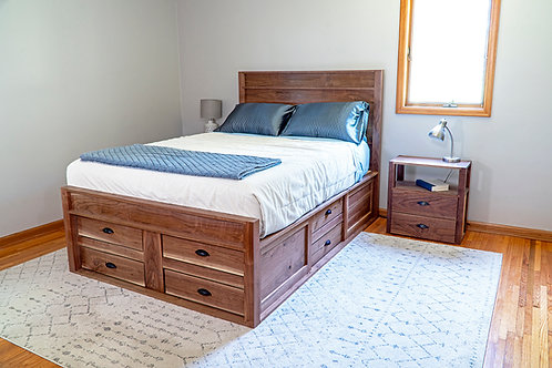Queen Size Bed Frame With Storage - Plans