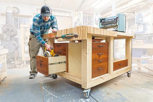 Double Flip-Top Workbench Plans