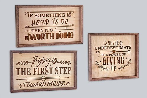 Sarcastic Sentiments - Funny, Not So Inspirational Signs