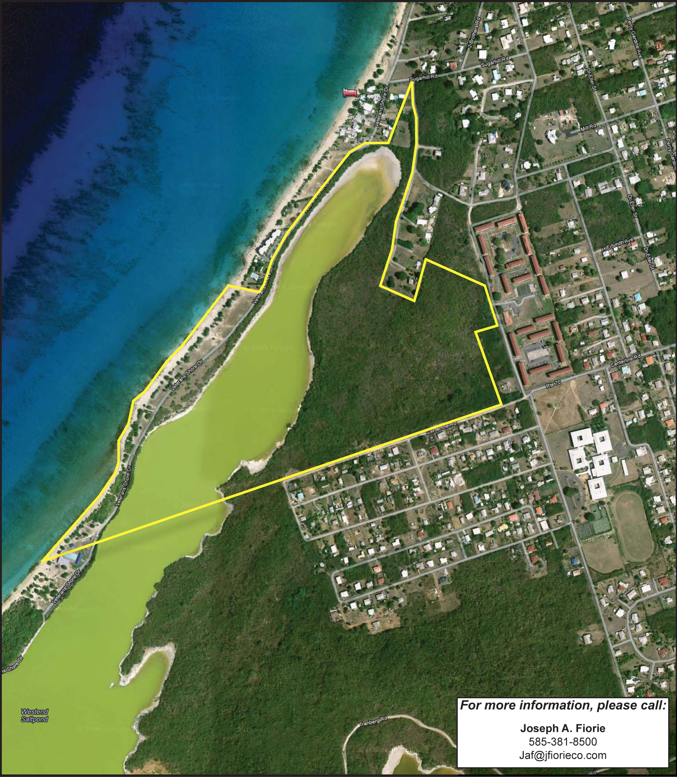 Overhead view of site St Croix US VI