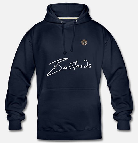 """""""BASTARDS"""" Hooded Pullover (30mm Leather Patch)"""