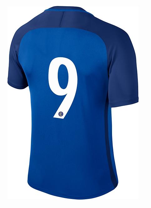 Rückennummer mit Vereinswappen