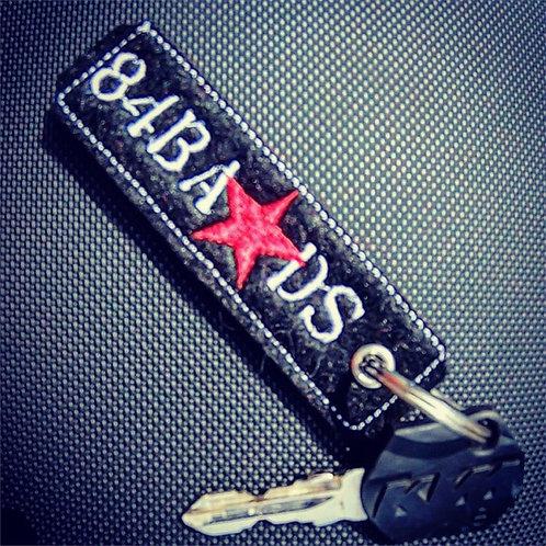 Schlüsselanhänger black/red