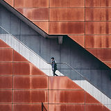Man Walking Up Stairs