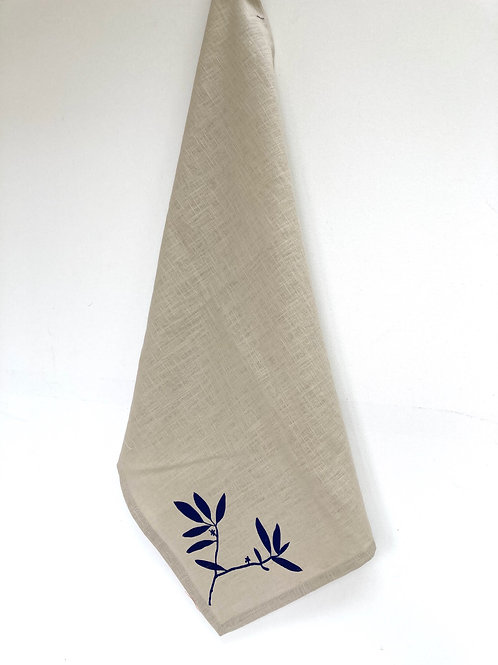 Stone colour Linen Towel