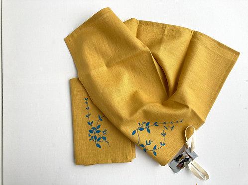 Pair of Saffron Linen Napkins