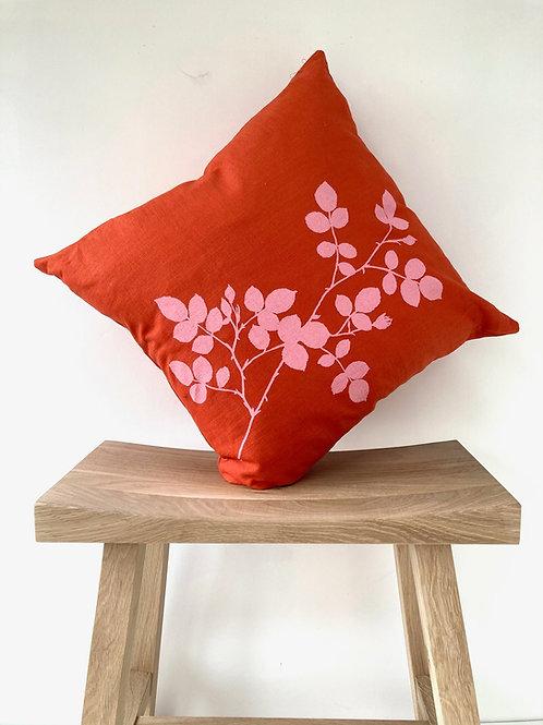 Burnt Orange Linen Cushion