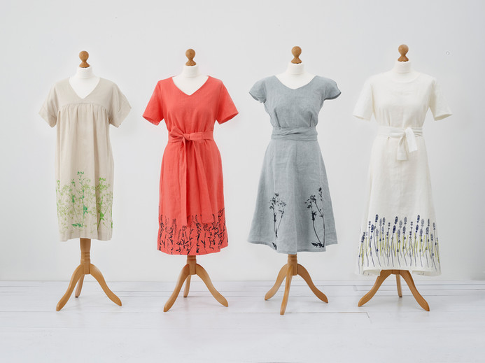 Hand Printed Linen Dresses