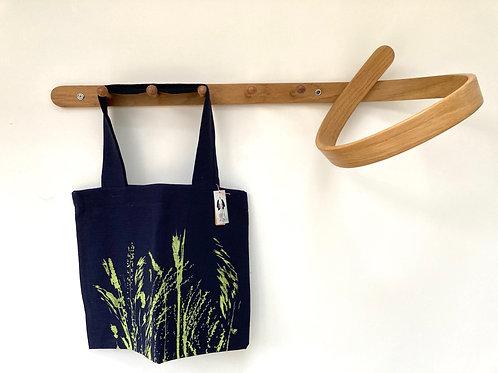 Dark Blue Linen Market Bag