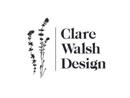 Clare Walsh Design , new logo