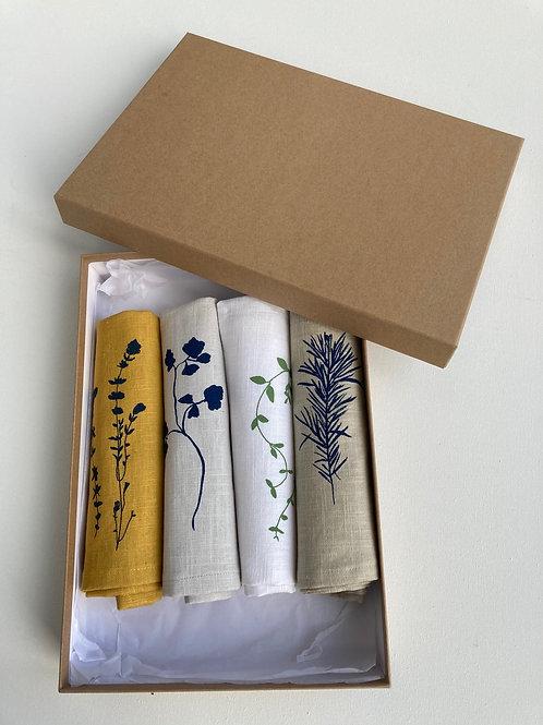 Mixed set of linen napkins