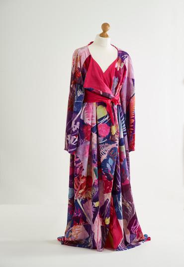 Hand Printed Kimono lined with silk