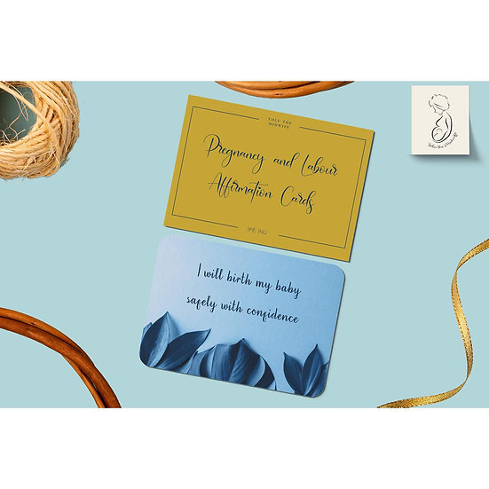 Pregnancy and Labour Affirmation Cards: Downloads Only