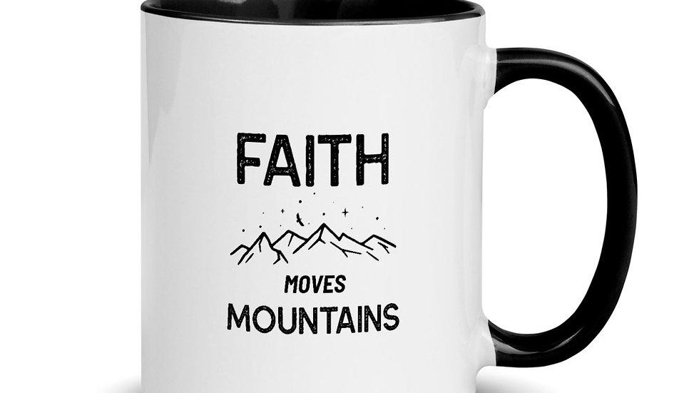 Faith Moves Mountains Mug with Color Inside