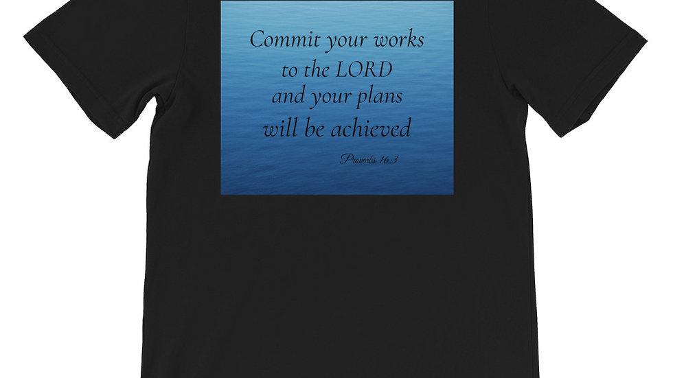 Proverbs 16:3 Premium Short-Sleeve Unisex T-Shirt