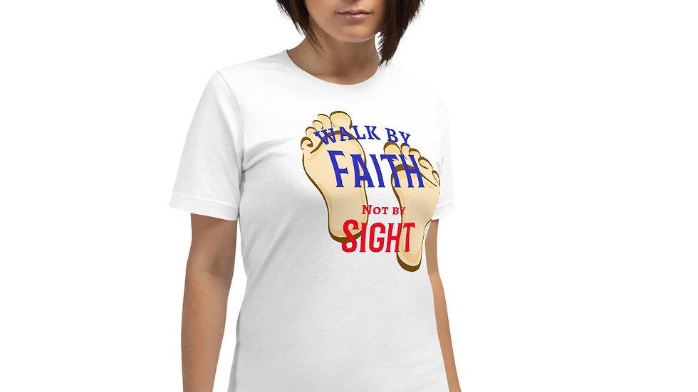 Walk By Faith Premium Short-Sleeve Unisex T-Shirt