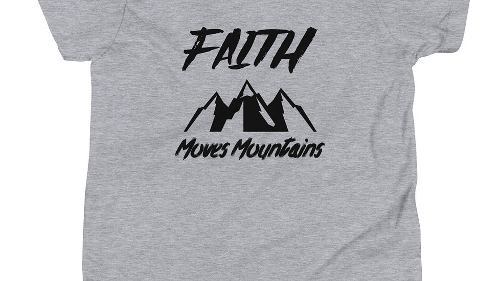 Faith Moves Mountains Premium Youth Short Sleeve T-Shirt