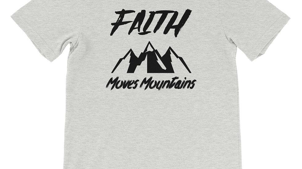 Faith Moves Mountains Premium Short-Sleeve Unisex T-Shirt