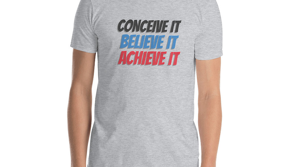 Conceive, Believe, Receive Basic Short-Sleeve Unisex T-Shirt