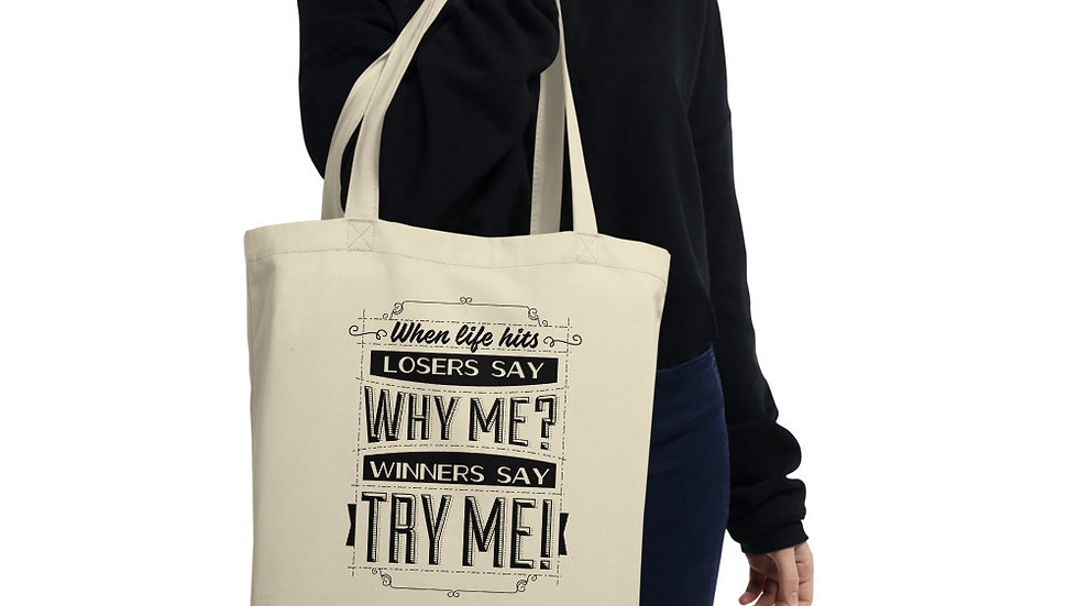 When Life Hits Eco Tote Bag
