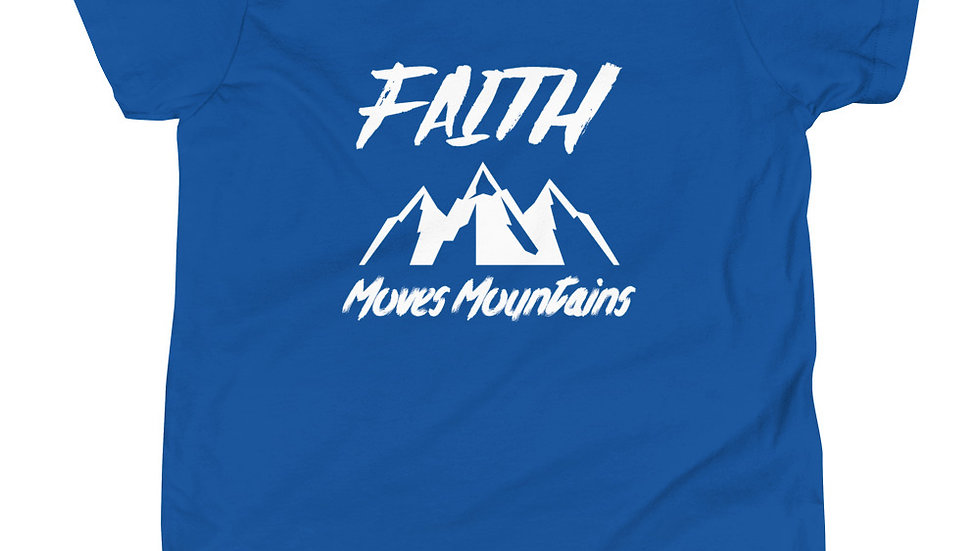 Faith Moves Mountains2 Premium Youth Short Sleeve T-Shirt