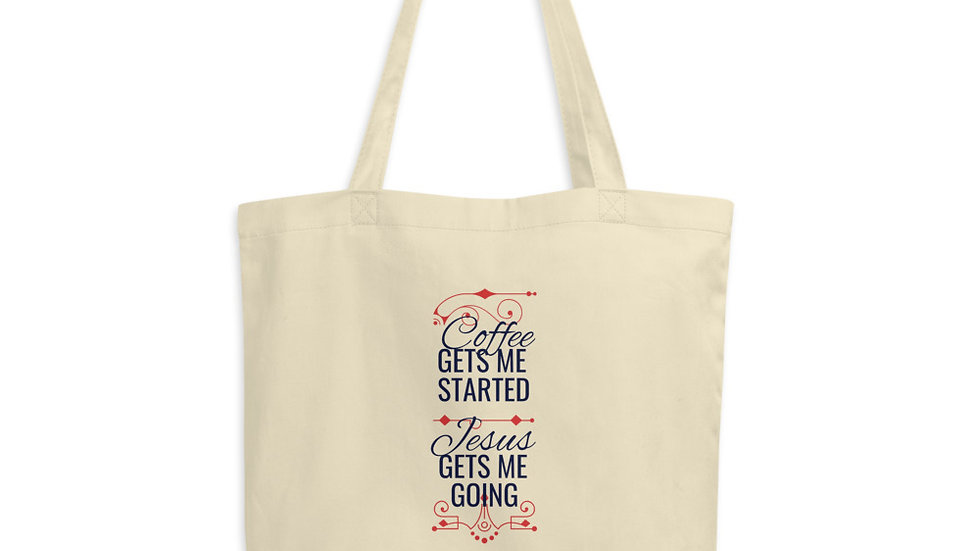 Coffee Gets Me Started Eco Tote Bag