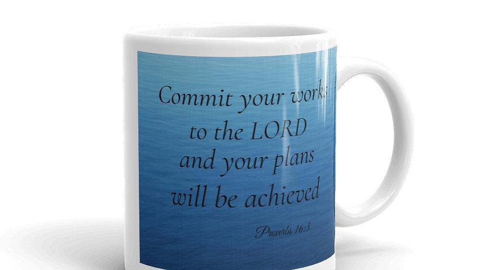 Proverbs 16:3 Mug