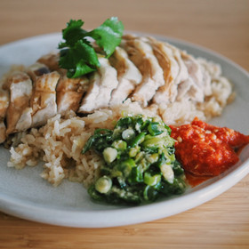 Lazy Hainanese chicken rice