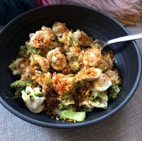 Orecchiette with broccoli + lazy pangrattato