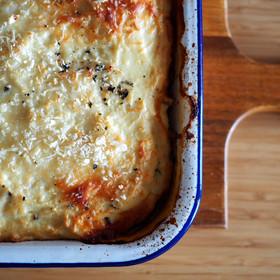 Moussaka w/ Cauliflower Bechamel