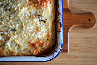Moussaka w/ Cauliflower Bechamel