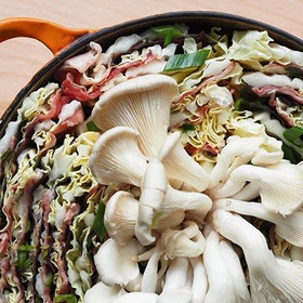 Wagyu beef & shiso mille feuille nabe