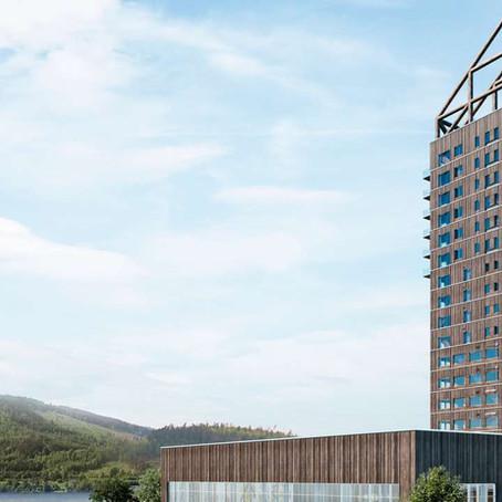 En Norvège, un gratte-ciel de bois de 85m en circuit court, exemple à suivre en France.