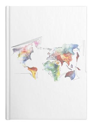 Music World Map Notebook