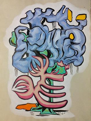 "Brain and Ribs 12""x16"""