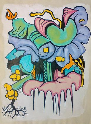 """Funky Flower 12""""x16"""""""