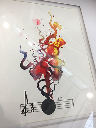 "Op. 17 No. 1 20""x20"" ORIGINAL"