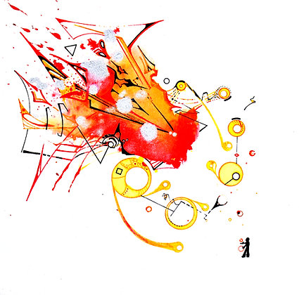 """Juggling Flammables Giclee Print 8""""x8"""""""