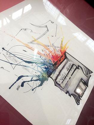 """Color Organ I 27""""x21"""" ORIGINAL"""