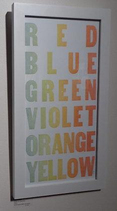 Letterpressed Colors