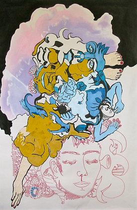 """Dreamscape 38""""x57"""""""