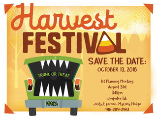 Harvest Festival Organizational Meeting this Friday!