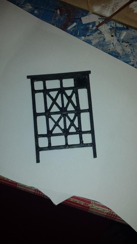 Simplified gate painted