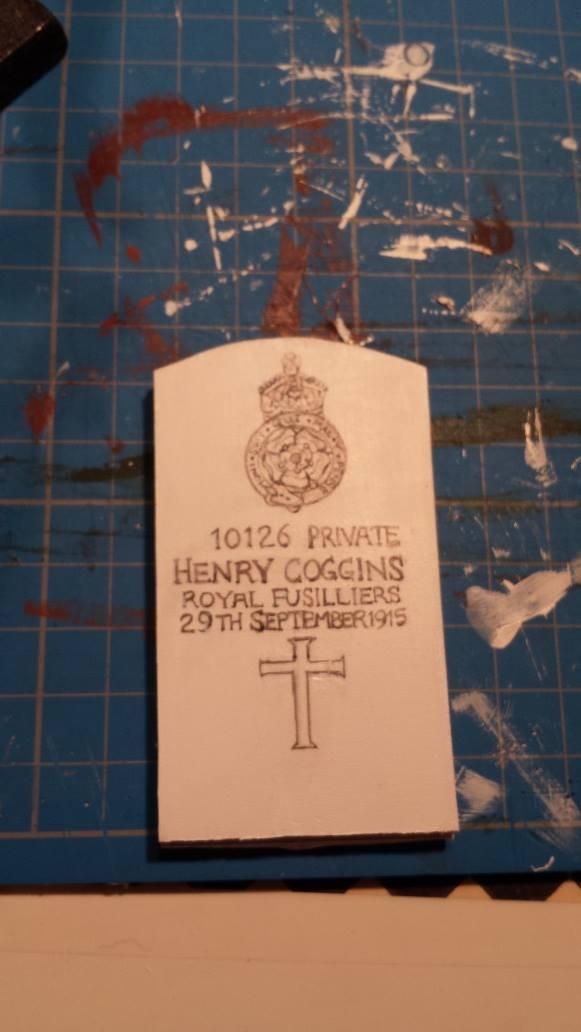 Inked headstone